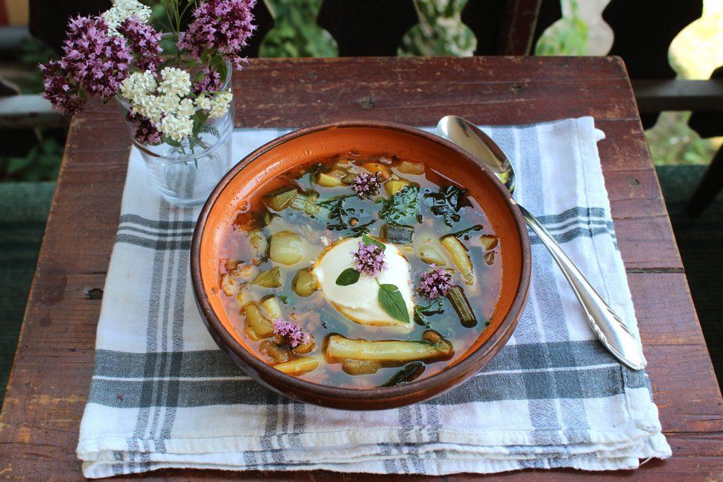 veganska zelenjavna juha recept fižol korenje bučke paprika ohrovt