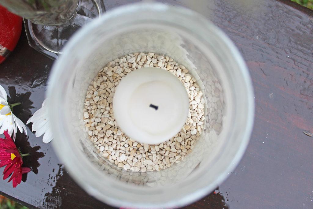 steklena nagrobna sveča svečnik svetilka brez plastike prvi november
