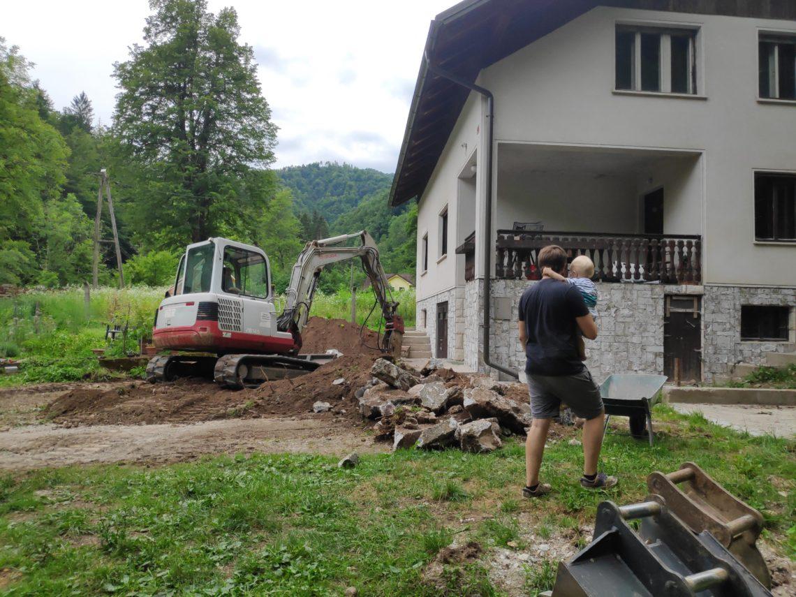 Odkop hiše – hidroizolacija in drenaža – 1.del