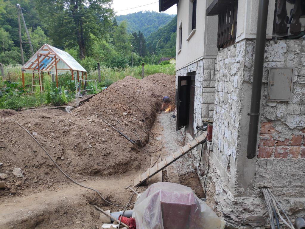 izkop hiše sanacija-prenova starejše hiše samogradnja